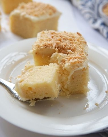 COCONUT TOPPED, CREAM CHEESE SHEET CAKE